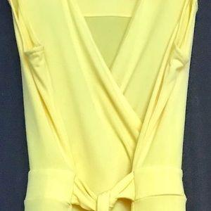 Bright yellow sleeveless/stretch dress